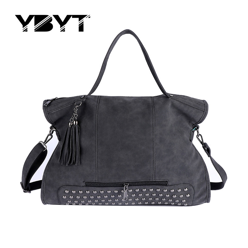 YBYT brand 2017 new casual large capacity tassel women handbag high quality ladi