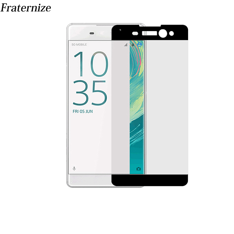 Szkło hartowane Full Cover do Sony Xperia XZS XZ Premium X Compact Performance XA XA1 Ultra Full Coverage Screen Protector Film