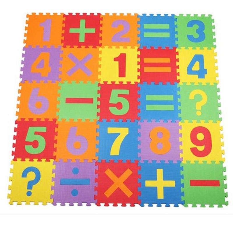 16 Pieces Numerical Soft Foam Mat Puzzle Crawling Mat Carpet School ...