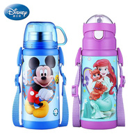 Disney Children S Thermos Feeding Cup With Straw Stainless Steel Durable Water Bottle Vacuum Flask Double