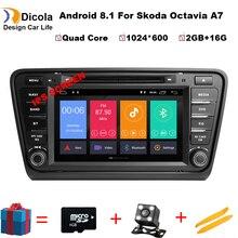 8 «ips HD 4 ядра Android 8,0 8,1 2 GB Оперативная память 16 Гб Встроенная память RDS BT FM DVD мультимедиа плеер для Skoda Octavia A7 2014-2017