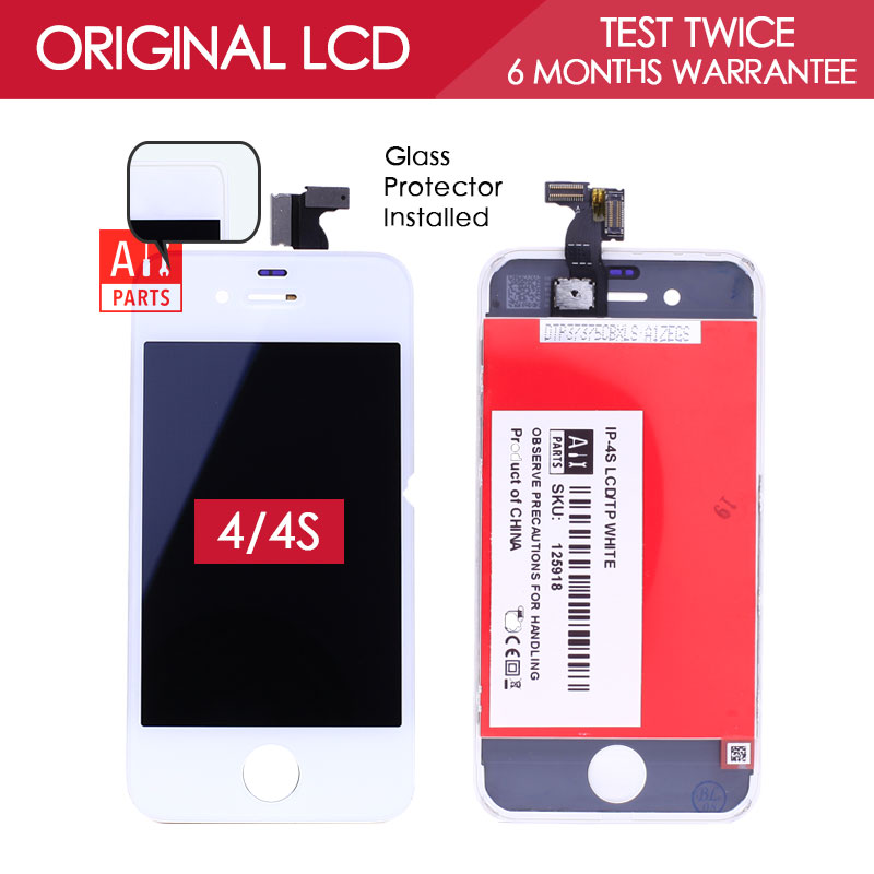 100 TESTED 3 5 inch Black White 960x640 Original LCD For iPhone 4 4S Screen Display