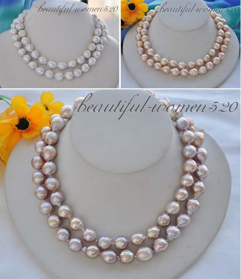 X0334 13mm round keshi reborn freshater pearl necklace 33inchX0334 13mm round keshi reborn freshater pearl necklace 33inch