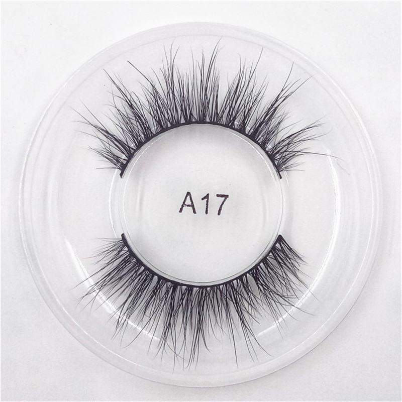 1 Pair 3D Mink Hair Eyelashes Natural Long Soft Mink Lashes Daily Wedding Party Look Las ...