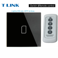 TLINK EU Standard 1 2 3 Gang 1 Way Touch Switch Wall Light Touch Screen Crystal