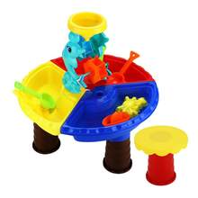 New Baby Beach Toys Set 2 Style Plastic Round Table Children's Beach Sand Water Play Toys Children Kids Summer Outdoor Play Toys(China)