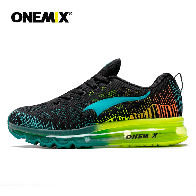 ONEMIX Men s Sport Running Shoes Summer Sneakers Breathable Mesh Outdoor Air Cushion Athletic Shoes Music