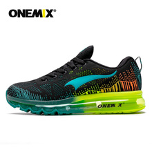 купить ONEMIX Men's Sport Running Shoes Summer Sneakers Breathable Mesh Outdoor Air Cushion Athletic Shoes Music Rhythm Jogging Shoes дешево