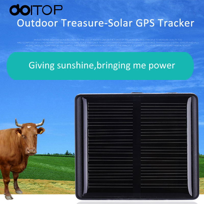 DOITOP GPS Tracker Solar Animal Never Power OFF Locator For Pet Cow Sheep Remove Alarm Real Time Location GPS+LBS+WIFI Track C4
