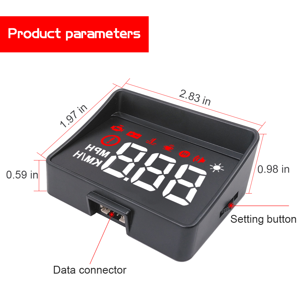 Image 4 - Newest A100S With Lens Hood Windshield Projector OBD2 II EUOBD Car HUD Head Up Display Overspeed Warning System Voltage Alarm-in Head-up Display from Automobiles & Motorcycles