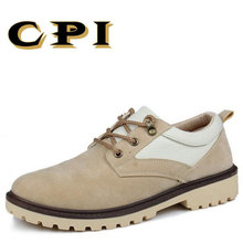 CPI 2018 Yeni erkek rahat deri ayakkabı Rahat aşınmaya dayanıklı Iş ayakkabıları Nefes Dantel-up Flats ayakkabı PP-11