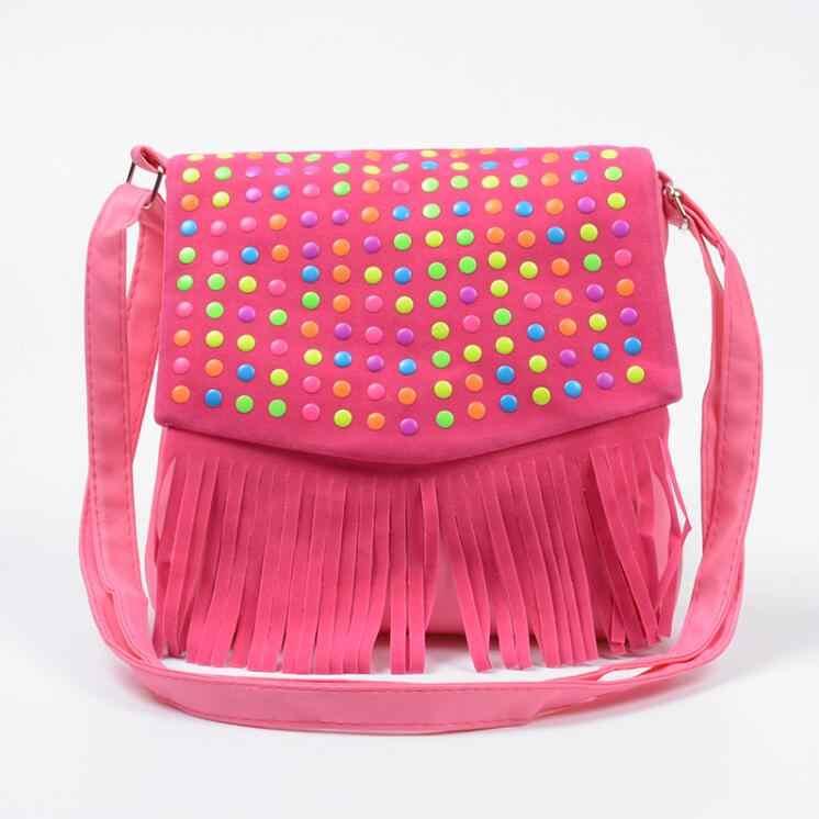 ... Fashion girls handbag children tassel bag small shoulder bag kids  messenger bags mini bag Coin Purses ...