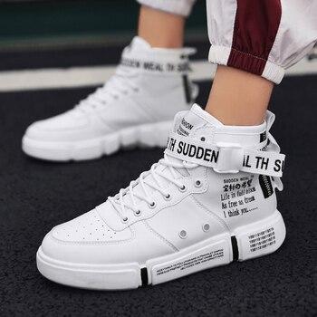 a8aa44dcb Лидер продаж; модная мужская повседневная обувь; высокие кроссовки; Новинка  2019 года; сезон весна; Мужская обувь; высокое качество; нескользя.