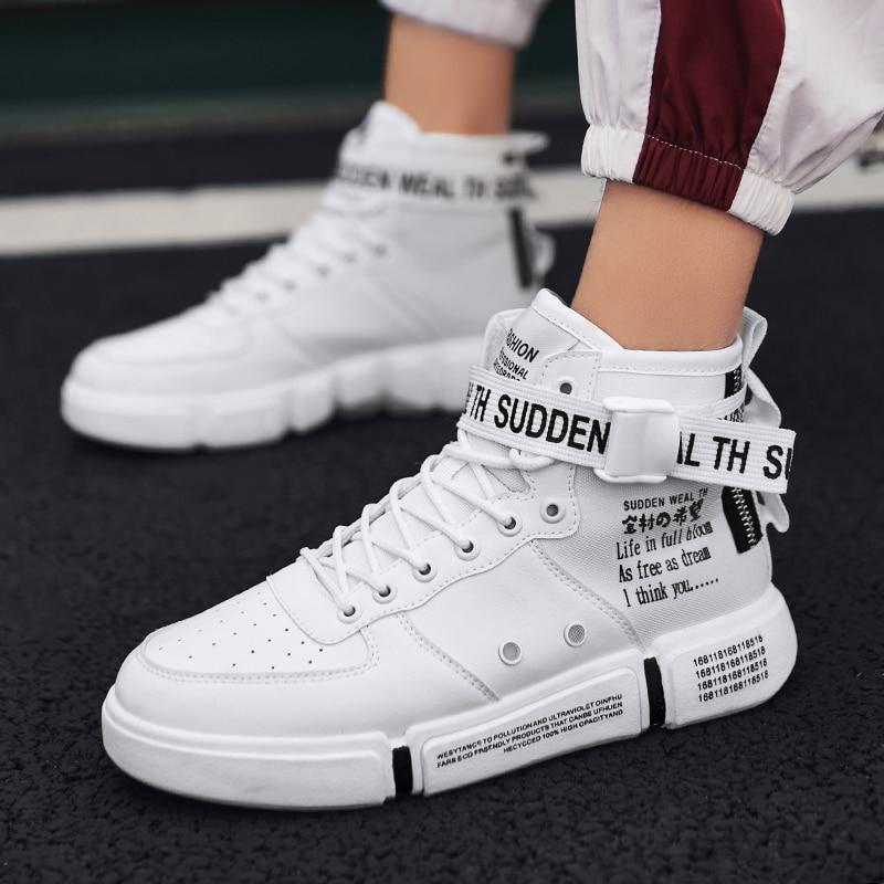 Лидер продаж; модная мужская повседневная обувь; высокие кроссовки; Новинка 2019 года; сезон весна; Мужская обувь; высокое качество; нескользящая прогулочная обувь; Zapatillas