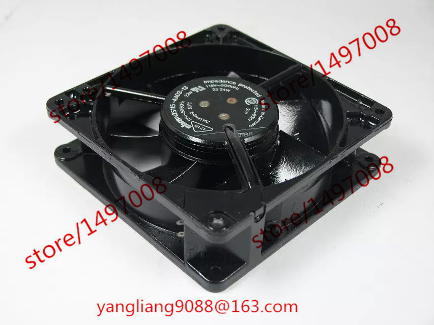 Free Shipping For ebm-papst W2S115-AA03-13 DC 115V 22W 127x127x38mm 2-pin Server Square Cooling Fan free shipping 370 6072 03 540 6706 01 server fan for sun netra440 n440 tested working