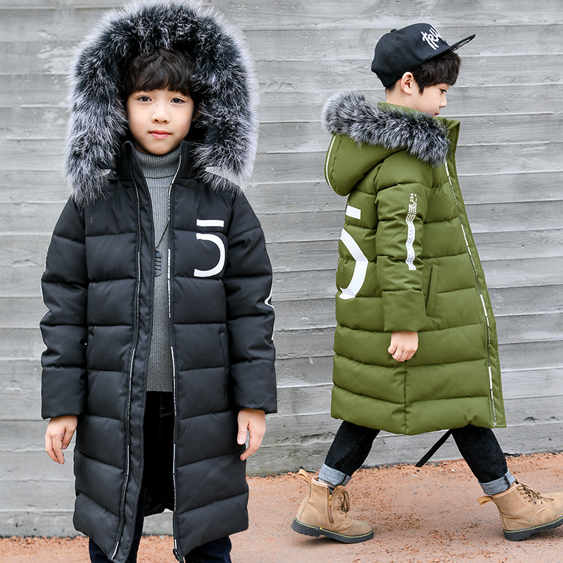 884c600d6eef Aliexpress.com   Buy 2018 Winter Boys Thickened Warm Cotton Jackets ...