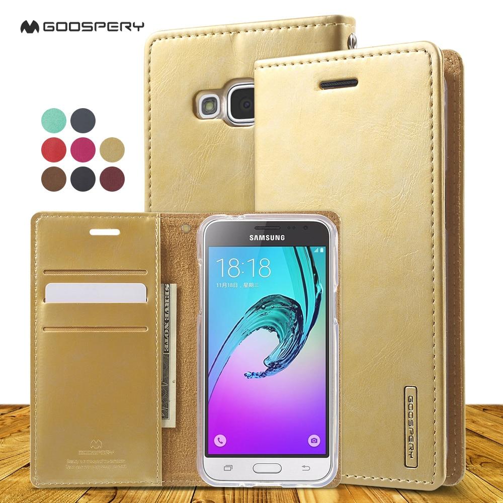 Mercury Goospery Phone Case For Samsung J1 J3 J5 J7 A3 A5 A7 A9 Core Fancy Diary 2017 J2 Prime 2016