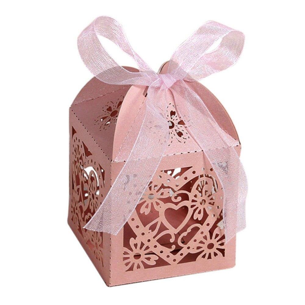 MENGXIANG 10Pcs/set Cut Out Love Heart Candy Box Party Wedding ...