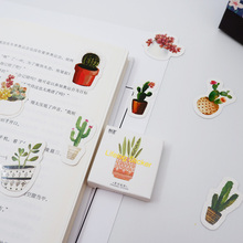 45 Pcs/box Green potted paper sticker decoration stickers DIY for craft diary scrapbooking planner kawaii label sticker недорого