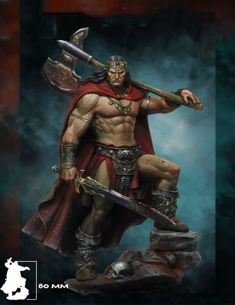 1/24 scale 75MM Barbarians Unpainted Miniatures Resin Model Kit Figure Free Shipping