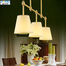 Simple Restaurant chandeliers European-style copper lamp dining living room hall 3 heads creative lampadari