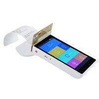 Портативный ручной pos терминал EMV PCI сертифицированных Мобильных Платежей Android машина с NFC кредитных карт 58 мм Термальность принтера