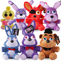 Comercio al por mayor 25 cm Oficial de Cinco Noches En Freddy 4 FNAF Bonnie Foxy Freddy Fazbear Oso pato Peluches Doll