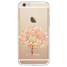 Silicone Soft Shell For Apple iphone 6splus 7 8 x xr xs max Mobile Cherry Blossom Series Painted Transparent