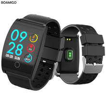 Bluetooth Smart Watch BOAMIGO Smartwatch For IOS Android Phone Call Remind Camera Calories Heart rate bracelet Wristband OLED smartwatch for android ios phone boamigo smart bracelet heart rate calorie reminder men sports alloy watch bluetooth smartwatch