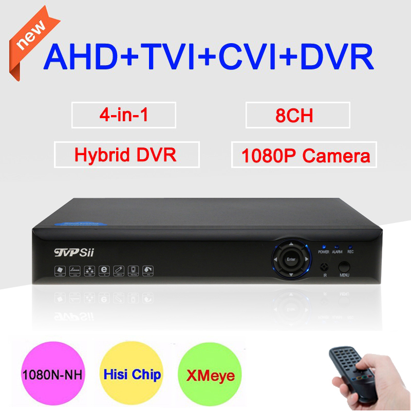 Blue-Ray XMeye App 1080P,960P,720P,960H Surveillance Camera 8 Channel 8CH 4 in 1 1080N Hybrid CVI TVi AHD CCTV DVR Free shipping
