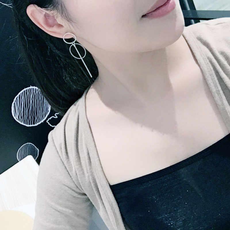 2019 ใหม่ต่างหูแฟชั่น Punk Simple ทอง/เงิน/ยาวพู่จี้ขนาดวงกลมต่างหูสำหรับสุภาพสตรีของขวัญขายส่ง