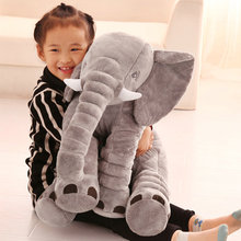 40/60cm Cartoon Plush Elephant Toy Kids Sleeping Back Cushion stuffed Pillow Elephant Doll Baby Doll Birthday Gift for Kids
