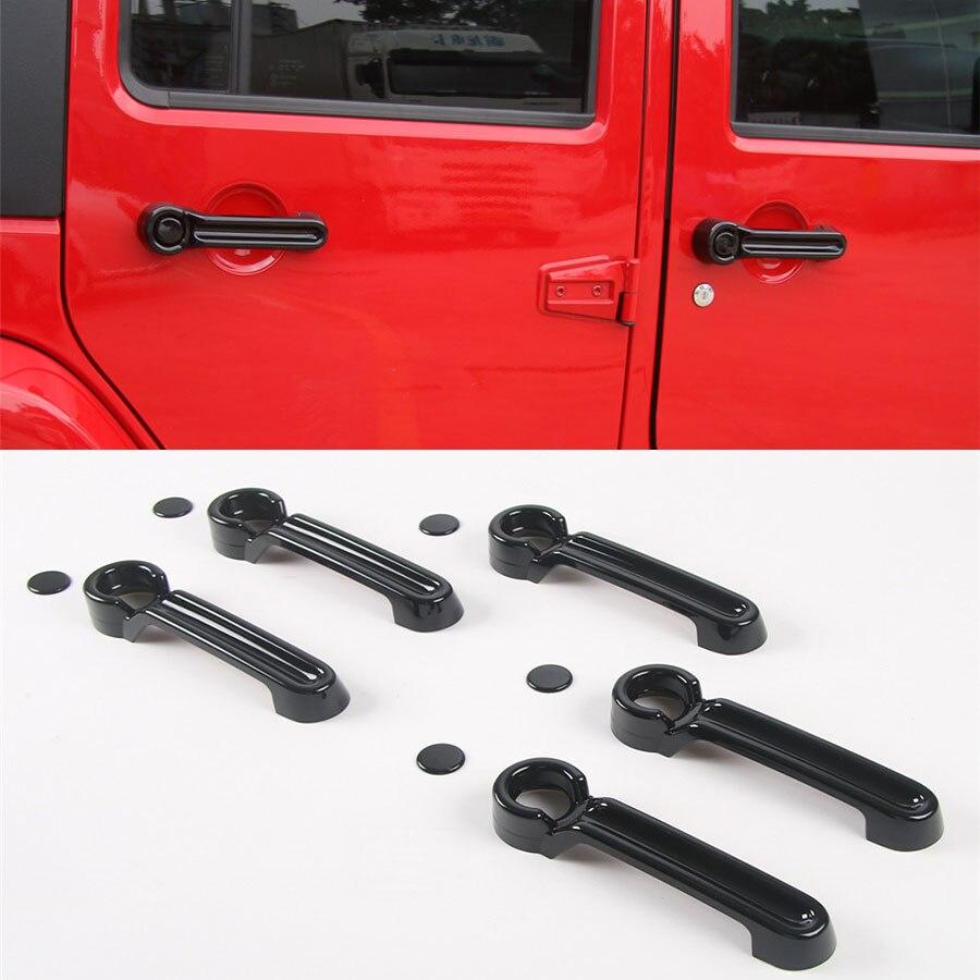 ABS Chrome Side Door Handle Cover Trim 6pcs for Jeep Wrangler JK 2 Doors 07-17
