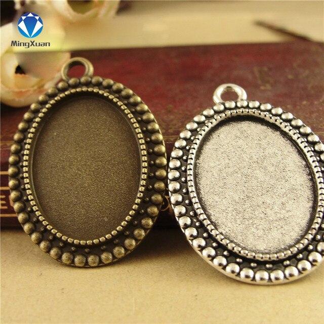 10 шт/лот античная бронза камея основа кабошона овальные заготовки
