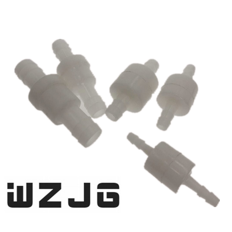 Plastic One-Way 4/6/8/10/12 Non-Return Water Inline Fluids Check Valves for Fuel Gas Liquid 2