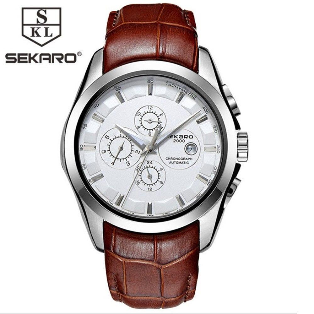 SEKARO Lujo Reloj Mecánico Automático Fecha Hombres Fecha - Relojes para hombres - foto 3