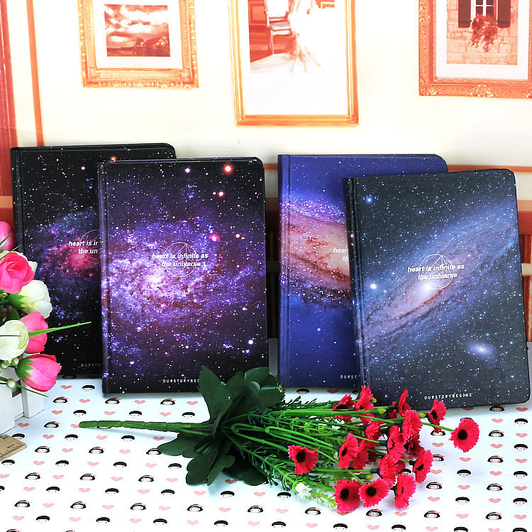 New Arrival Galaxy Science Fiction Picture Cover Series 13*18cm Handcover Creative Dairy Journal Notebook silicone jigsaw pattern cover creative notebook red white green purple