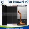 1 pcs tela de lcd para huawei p9 100% novo acessórios do telefone de alta qualidade display lcd + touch screen para p9 smartphone