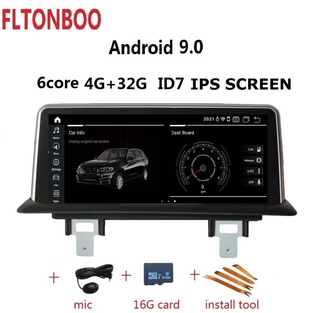 10.25'' <font><b>Android</b></font> 9.0 Car GPS Navigation Radio player ID7 for BMW 1 Series 120i E81 E82 E87 E88 4G RAM 32G ROM 6 core