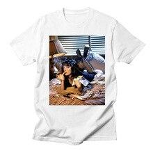 BTFCL 2019 Women Tshirts Pulp Fiction White Tee Girl Short Sleeve Basic T-shirt Summer Tshirt Printed Plus Size Shirts