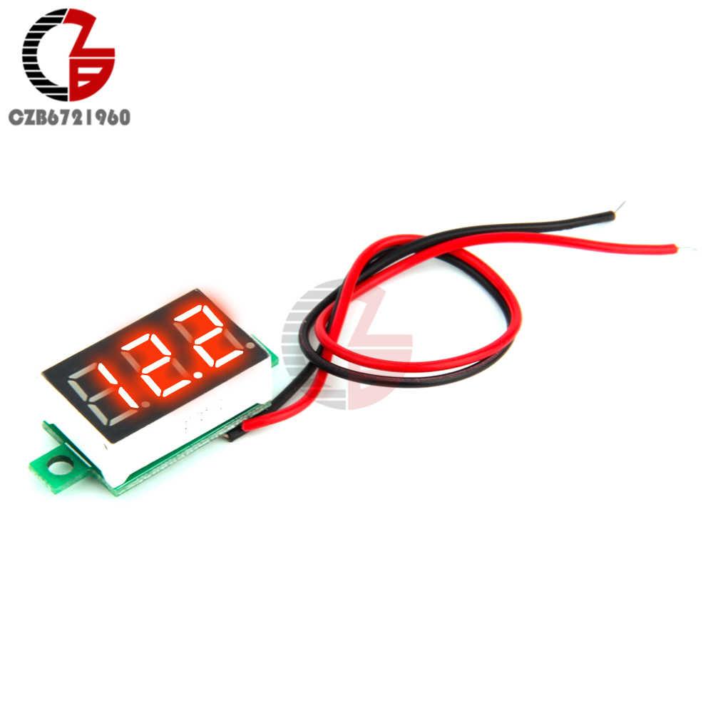0.28/0.36/0.56 Inch Led Digitale Voltmeter Amperemeter Auto Moto Voltage Current Meter Volt Detector Tester Monitor Panel rood