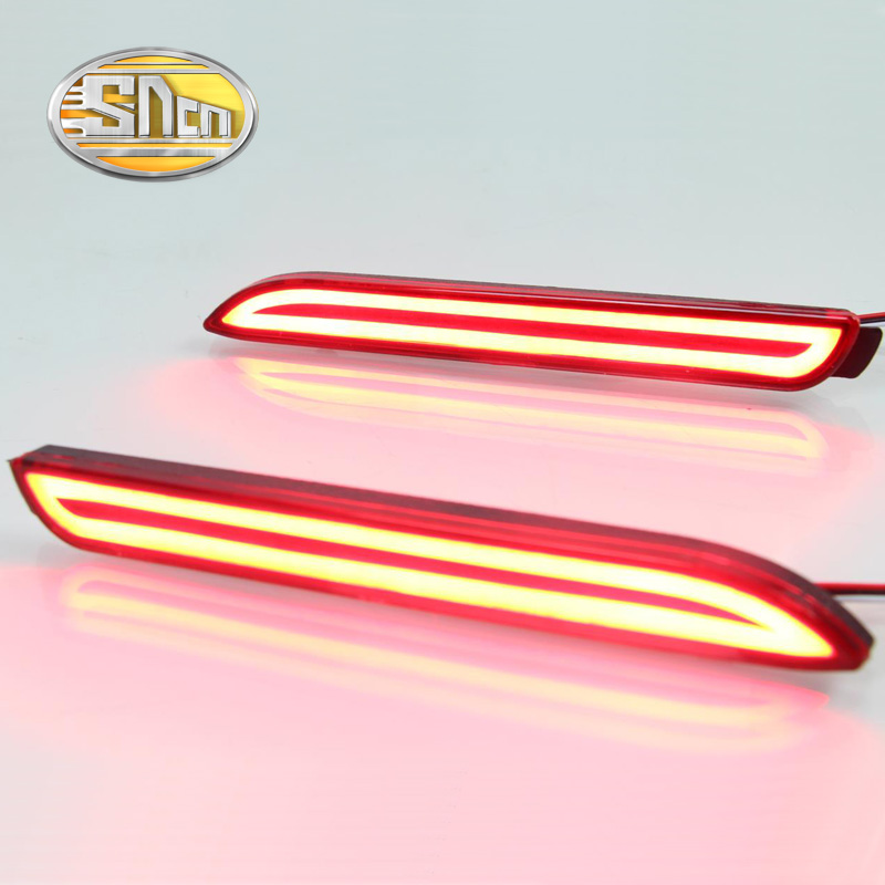 2PCS For Toyota Alphard 2015 2016 SNCN Multi-functions Car Tail Light LED Rear Fog Lamp Bumper Light Auto Brake Light Reflector