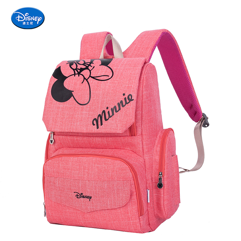 цена на Disney bags for mom mother & kids mickey mouse bag mickey mouse backpack double shoulder strap baby large capacity mommy bag