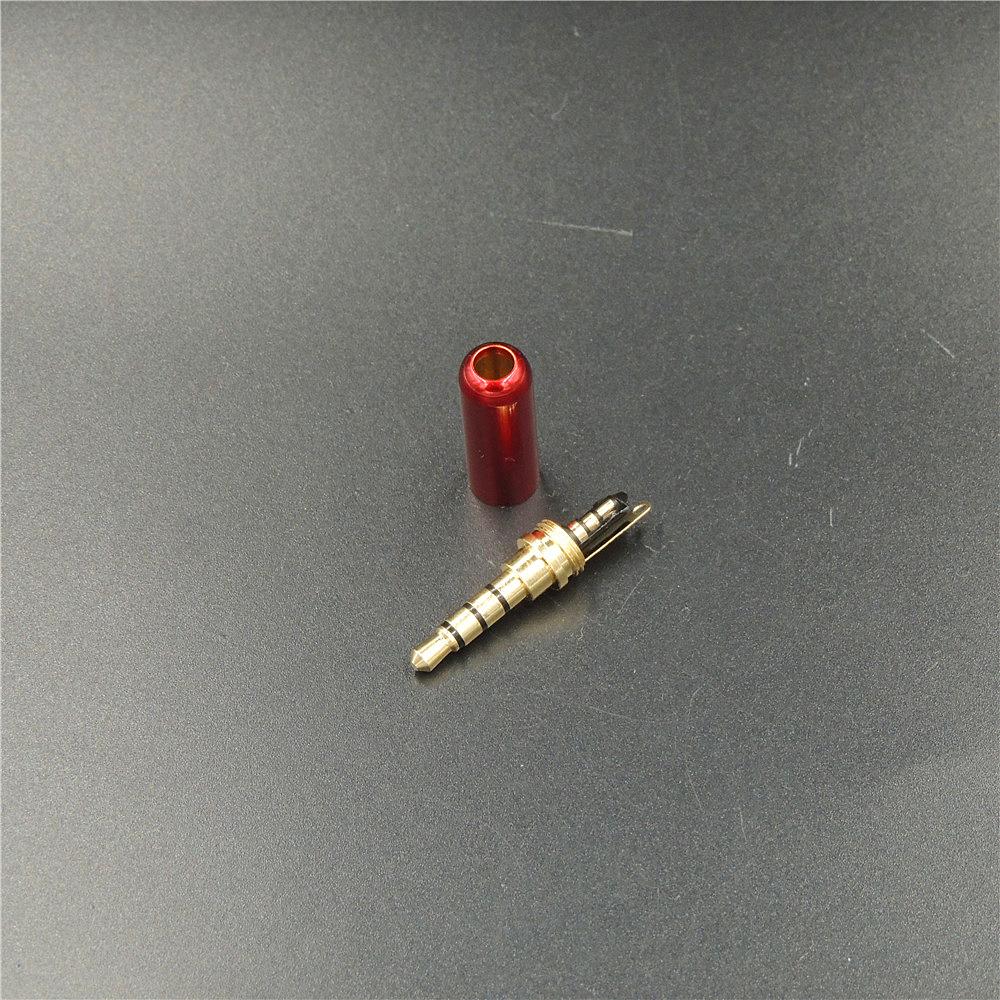 10 шт. меди 4 полюс 3.5 мм штекер разъем для наушников с 3.5 мм аудио разъем для 4 мм кабель-адаптер