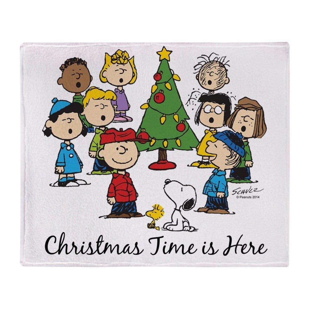 The Peanuts Gang: Christmas Is Here Soft Fleece Throw Blanket Blanket Fleece Blanket Sofa/Bed/Plane Travel Plaids Bedding Towel reloj de pared de snoopy