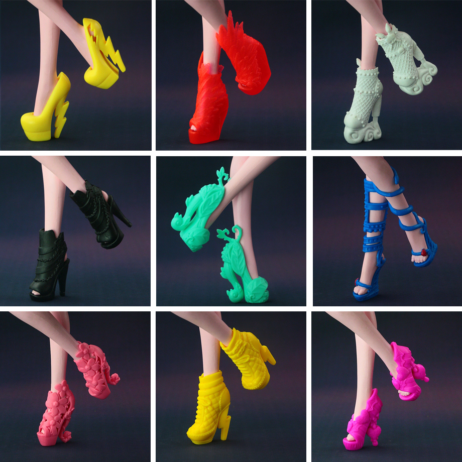 7ab0c517354c 50 pairs   lot New Fashion Orignal Shoes for Monster High Doll (ship at  random styles) Free Shipping