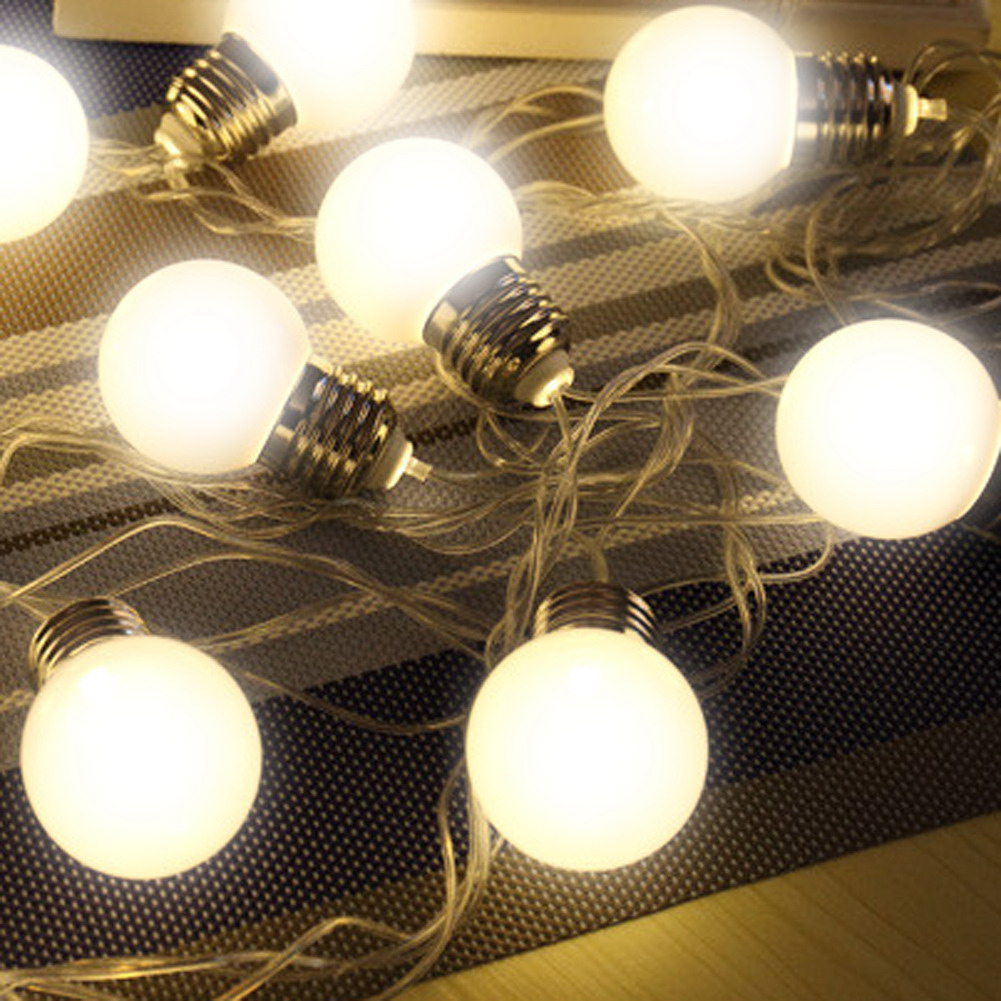 20 led christmas garland festoon light bulbs new years products outdoor 20 led globe connectable festoon party ball string lighting led christmas lights fairy wedding garden mozeypictures