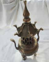 Collection chinese Handmade brass attic censer, home Decoration antique