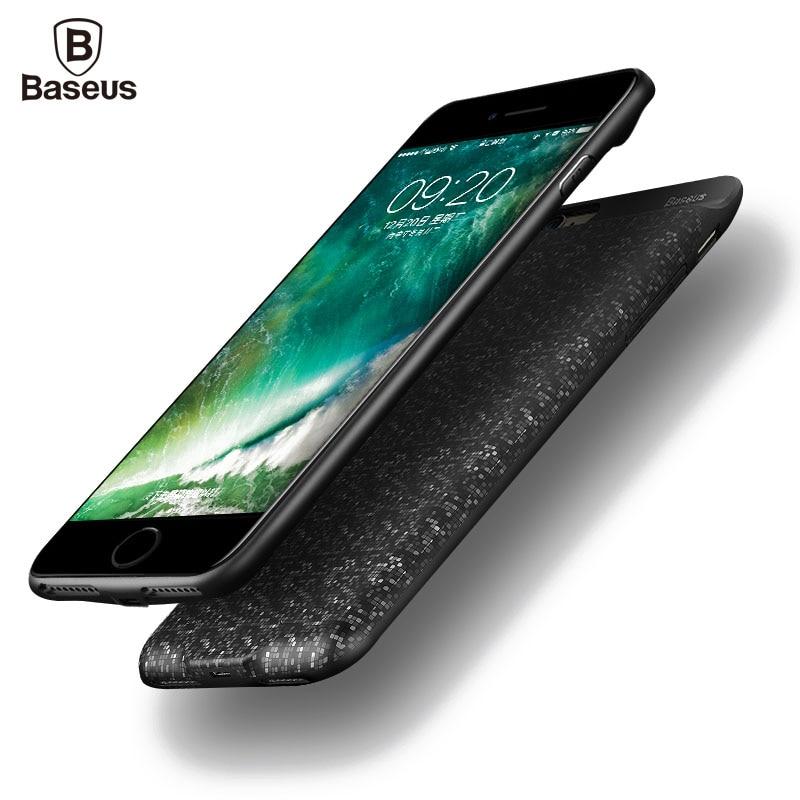 Цена за BASEUS зарядное устройство чехол для iPhone 6 6S 7 Plus 2500/3650 мАч Power Bank чехол Ultra Slim Внешний батарея резервного копирования Зарядка чехол
