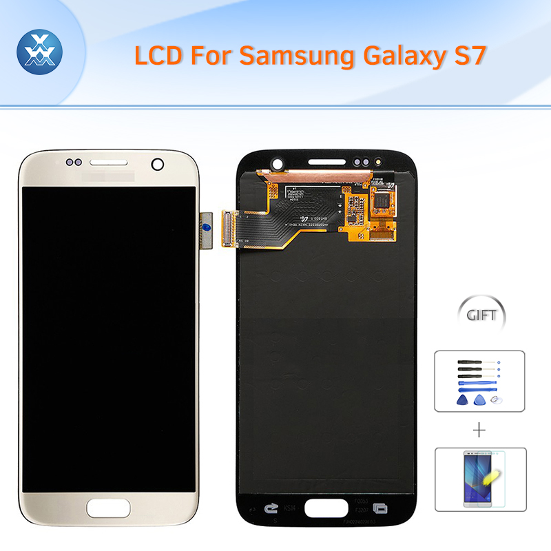 Original LCD for Samsung Galaxy S7 G930 LCD display touch screen digitizer glass G9300 G930V G930A G930T G930F G930P+tools+film